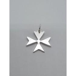 Cruz de Malta lisa plata de...