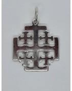 Cruces de Jerusalen de Plata de Ley